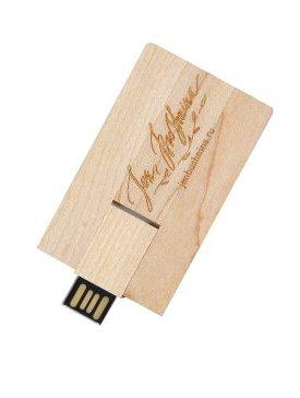 La clé-carte USB Bois