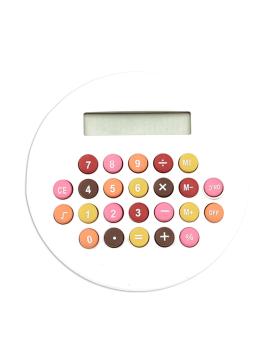 Calculatrice Ronde Blanche