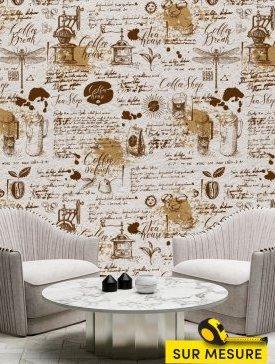 Papier peint style café 03