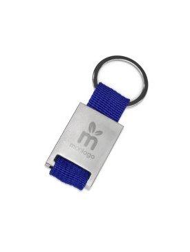 Le Porte-clé Métal Tissé Bleu