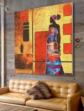 Tableau Canvas 140 x 140 cm
