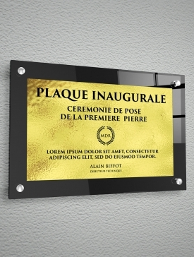 Plaque Polyester Or 02