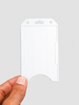 Etui Badge Blanc Vertical