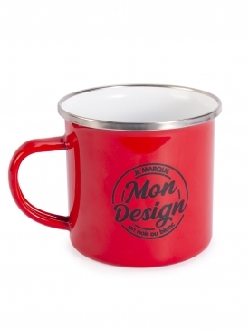 Le Mug Emaillé Vintage Rouge