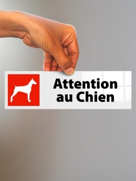 Plaque Attention au Chien