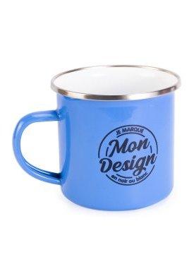 Le Mug Emaillé Vintage Bleu