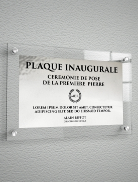 Plaque Polyester Argent 01