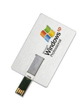 La clé-carte USB metal