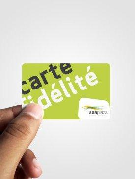 Carte PVC Recto Seul