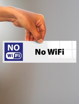Plaque No WiFi