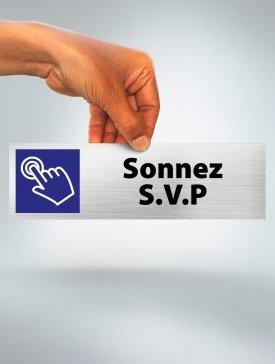 Plaque Sonnez SVP