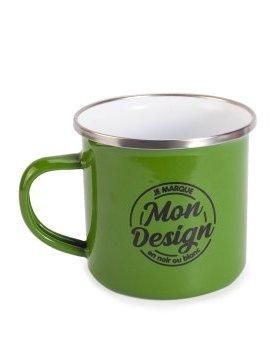 Le Mug Emaillé Vintage Vert