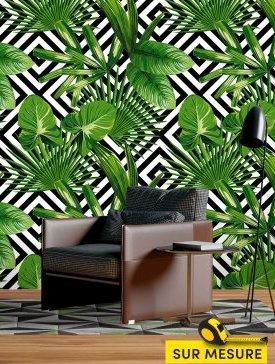 Papier peint saveur tropicale 02