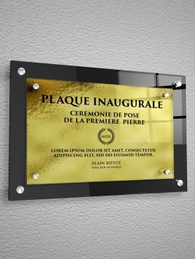 Plaque 3D Polyester Or 02