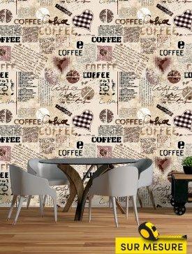 Papier peint style café 04