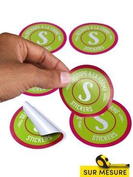 Stickers blancs découpés