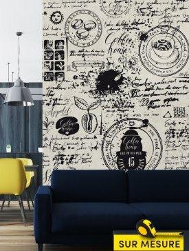 Papier peint style café