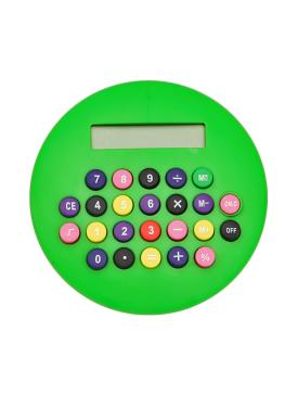 Calculatrice Ronde Verte
