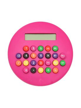 Calculatrice Ronde Rose