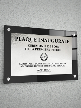 Plaque Polyester Argent 02