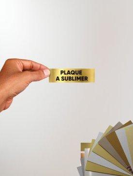 Plaque sublimée