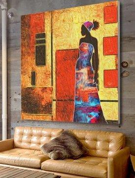 Tableau Canvas 150 x 150 cm
