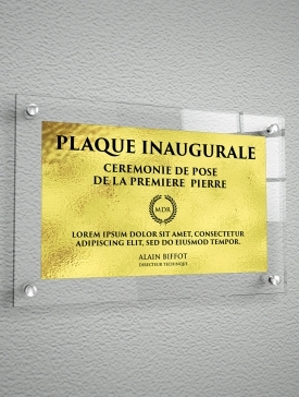 Plaque Polyester Or 01